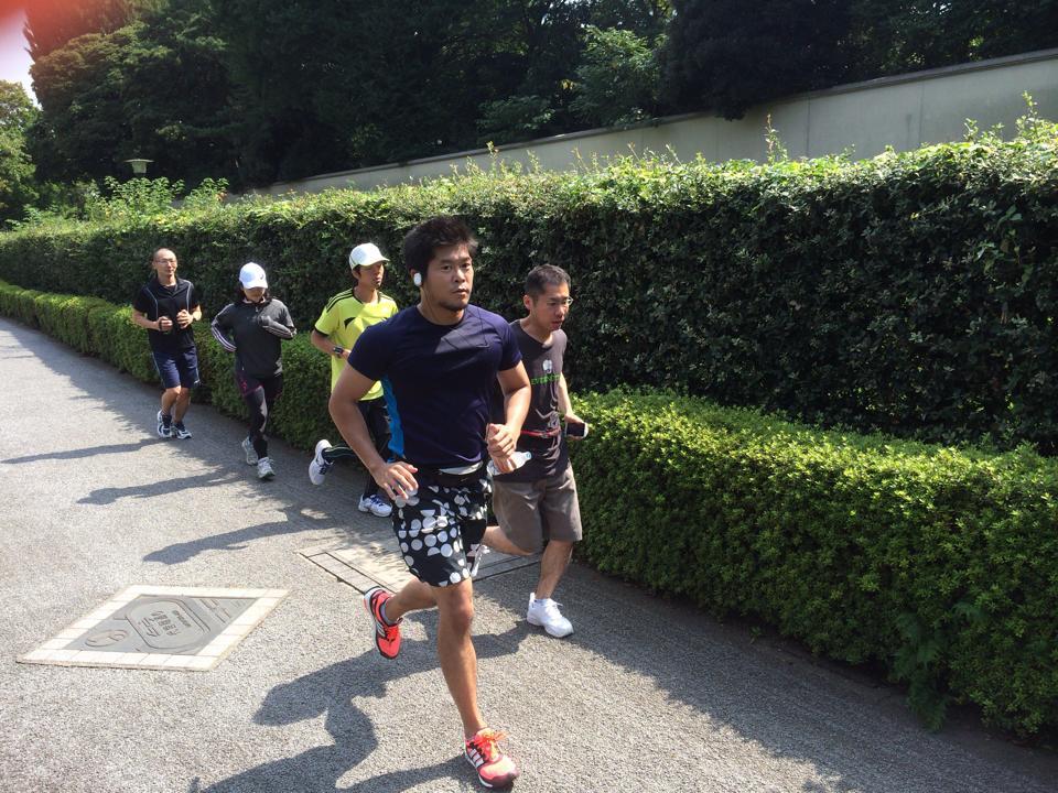 NHKに取材された皇居15kmラン