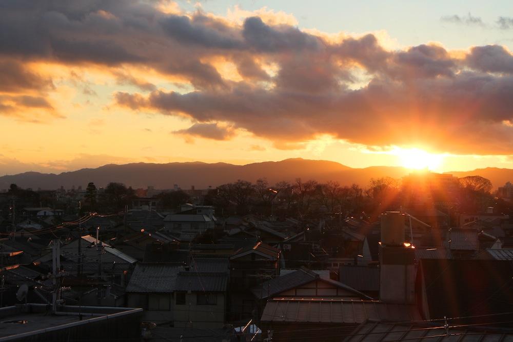 オフォスから見える夕焼けがとても綺麗だった。